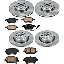 60OEREP22 SureStop OE Replacement Front And Rear Brake Disc and Pad Kit, 4-Wheel Set