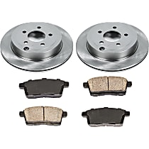 SureStop Rear Replacement Brake Disc and Pad Kit - 2-Wheel Set, For Models With 296mm or 320mm Front Rotors, Incl. 11.89 in. Rotors