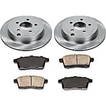 SureStop Rear Replacement Brake Disc and Pad Kit - 2-Wheel Set, Incl. 11.89 in. Replacement Rotors