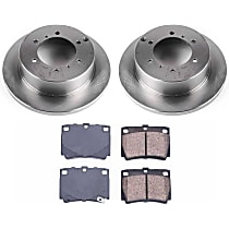 Front Blank Brake Rotors and Ceramic Pads For 1997-2004 Mitsubishi Montero Sport