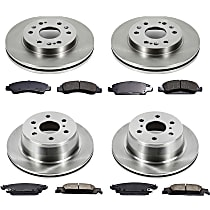60OEREP65 SureStop OE Replacement Front And Rear Brake Disc and Pad Kit, 4-Wheel Set