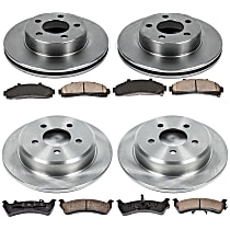 SureStop Front And Rear Replacement Brake Disc and Pad Kit - 4-Wheel Set, 4WD Models, Incl. 11.22 in. Front/11.22 in. Rear