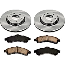 61OEREP20 SureStop OE Replacement Front Brake Disc and Pad Kit, 2-Wheel Set