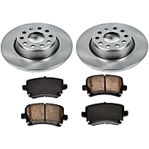 61OEREP22 SureStop OE Replacement Rear Brake Disc and Pad Kit, 2-Wheel Set