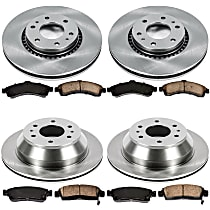 62OEREP20 SureStop OE Replacement Front And Rear Brake Disc and Pad Kit, 4-Wheel Set