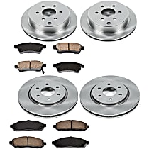 62OEREP40 SureStop OE Replacement Front And Rear Brake Disc and Pad Kit, 4-Wheel Set