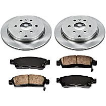 62OEREP52 SureStop OE Replacement Rear Brake Disc and Pad Kit, 2-Wheel Set