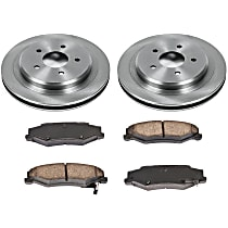 SureStop Rear Replacement Brake Disc and Pad Kit - 2-Wheel Set, Naturally Aspirated Models With JL9 Brake Package, With 325mm Front Rotors, Incl. 12.01 in. Rotors