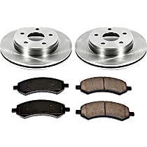 63OEREP21 SureStop OE Replacement Front Brake Disc and Pad Kit, 2-Wheel Set