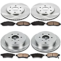 63OEREP40 SureStop OE Replacement Front And Rear Brake Disc and Pad Kit, 4-Wheel Set