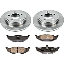 SureStop Rear Replacement Brake Disc and Pad Kit - 2-Wheel Set, Models With Performance Package; For Models With 282 or 297mm Front Rotors