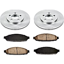 64OEREP13 SureStop OE Replacement Front Brake Disc and Pad Kit, 2-Wheel Set