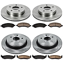 64OEREP21 SureStop OE Replacement Front And Rear Brake Disc and Pad Kit, 4-Wheel Set