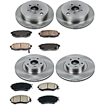 64OEREP61 SureStop OE Replacement Front And Rear Brake Disc and Pad Kit, 4-Wheel Set