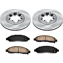 66OEREP20 SureStop OE Replacement Front Brake Disc and Pad Kit, 2-Wheel Set