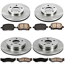 66OEREP21 SureStop OE Replacement Front And Rear Brake Disc and Pad Kit, 4-Wheel Set