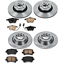 66OEREP40 SureStop OE Replacement Front And Rear Brake Disc and Pad Kit, 4-Wheel Set