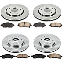 66OEREP44 SureStop OE Replacement Front And Rear Brake Disc and Pad Kit, 4-Wheel Set