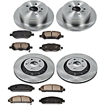 66OEREP58 SureStop OE Replacement Front And Rear Brake Disc and Pad Kit, 4-Wheel Set