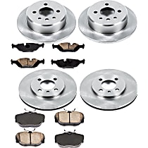 67OEREP41 SureStop OE Replacement Front And Rear Brake Disc and Pad Kit, 4-Wheel Set