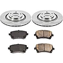 SureStop Rear Replacement Brake Disc and Pad Kit - 2-Wheel Set, Incl. Replacement Rotors