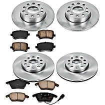 Front And Rear Brake Disc and Pad Kit, 4-Wheel Set