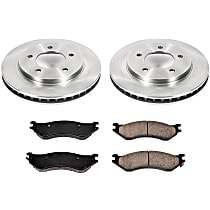 69OEREP18 SureStop OE Replacement Front Brake Disc and Pad Kit, 2-Wheel Set