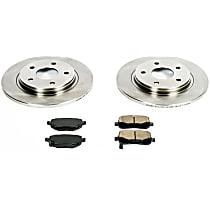 69OEREP45 SureStop OE Replacement Rear Brake Disc and Pad Kit, 2-Wheel Set
