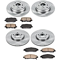 69OEREP53 SureStop OE Replacement Front And Rear Brake Disc and Pad Kit, 4-Wheel Set