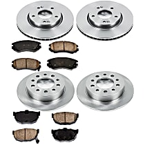 6OEREP16 SureStop OE Replacement Front And Rear Brake Disc and Pad Kit, 4-Wheel Set