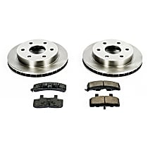 70OEREP19 SureStop OE Replacement Front Brake Disc and Pad Kit, 2-Wheel Set