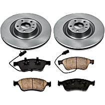 70OEREP45 SureStop OE Replacement Front Brake Disc and Pad Kit, 2-Wheel Set