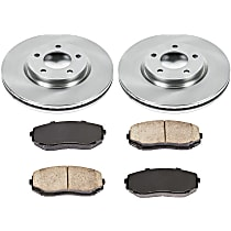 SureStop Front Replacement Brake Disc and Pad Kit - 2-Wheel Set, Models With 296mm (11.65 in.) Front Rotor