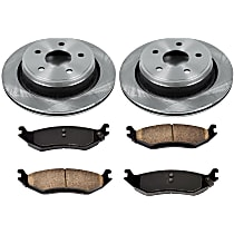 72OEREP21 SureStop OE Replacement Rear Brake Disc and Pad Kit, 2-Wheel Set