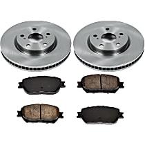 SureStop Front Replacement Brake Disc and Pad Kit - 2-Wheel Set, US Built Models, Incl. 11.65 in. Rotors