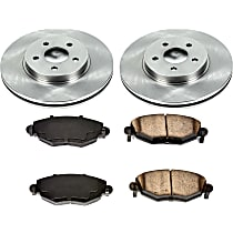 73OEREP13 SureStop OE Replacement Front Brake Disc and Pad Kit, 2-Wheel Set