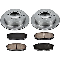 SureStop Rear Replacement Brake Disc and Pad Kit - 2-Wheel Set