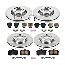 73OEREP54 SureStop OE Replacement Front And Rear Brake Disc and Pad Kit, 4-Wheel Set