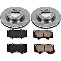 SureStop Front Replacement Brake Disc and Pad Kit - 2-Wheel Set, Incl. Replacement Rotors