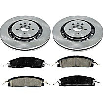 74OEREP63 SureStop OE Replacement Front Brake Disc and Pad Kit, 2-Wheel Set
