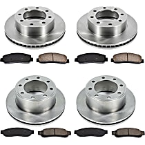 SureStop Front And Rear Replacement Brake Disc and Pad Kit - 4-Wheel Set, 4WD Models With Single Rear Wheel Built After 9/16/2010