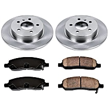 SureStop Rear Replacement Brake Disc and Pad Kit - 2-Wheel Set, Models With 320 or 335mm Front Rotors
