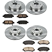 75OEREP60 SureStop OE Replacement Front And Rear Brake Disc and Pad Kit, 4-Wheel Set