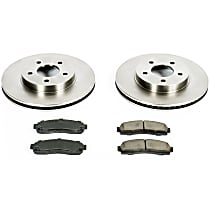 76OEREP15 SureStop OE Replacement Front Brake Disc and Pad Kit, 2-Wheel Set