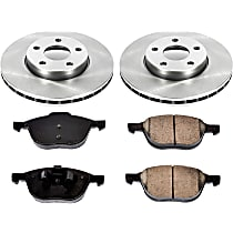 SureStop Front Replacement Brake Disc and Pad Kit - 2-Wheel Set, Naturally Aspirated Models With Rear Disc, Incl. Replacement Rotors