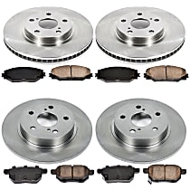 76OEREP60 SureStop OE Replacement Front And Rear Brake Disc and Pad Kit, 4-Wheel Set