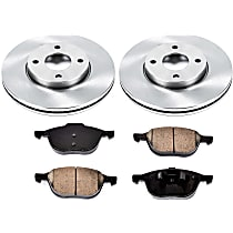 77OEREP13 SureStop OE Replacement Front Brake Disc and Pad Kit, 2-Wheel Set