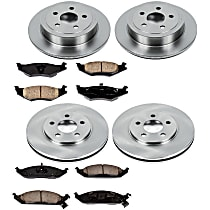 77OEREP16 SureStop OE Replacement Front And Rear Brake Disc and Pad Kit, 4-Wheel Set