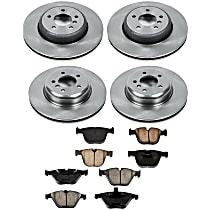 77OEREP28 SureStop OE Replacement Front And Rear Brake Disc and Pad Kit, 4-Wheel Set