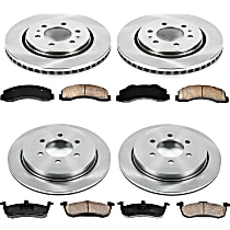 SureStop Front And Rear Replacement Brake Disc and Pad Kit - 4-Wheel Set, Incl. 13.78 in. Front/13.46 in. Rear